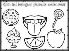 Material educativo de los cinco sentidos para imprimir Coloring Worksheets For Kindergarten, Worksheets For Kids, Kindergarten Activities, Five Senses Preschool, My Five Senses, Nursery Rhymes Preschool, Preschool Crafts, Spanish Lessons For Kids, Busy Book
