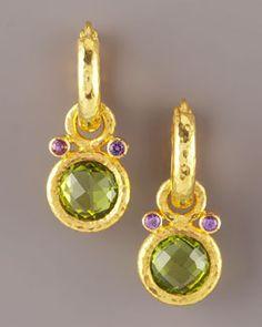Elizabeth Locke  Peridot & Amethyst Earring Charms