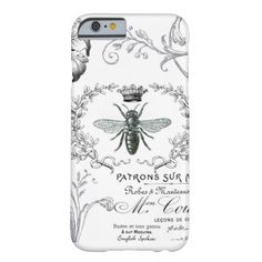 Vintage French Queen Bee black and white iPhone 6 case.  Check out the artist's link.
