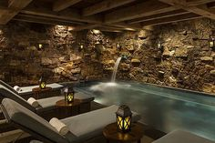 The Spa at the Ritz-Carlton Bachelor Gulch, Beaver Creek, ColoradoDesigned by Palm Beach, Florida–ba. - Photo: Courtesy of Ritz-Carlton Bachelor Gulch Interior Design Games, Interior Design Colleges, Design Blogs, Jeddah, Beaver Creek, Best Spa, Indoor Swimming Pools, Treatment Rooms, Home Spa
