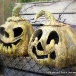 papermache pumpkins