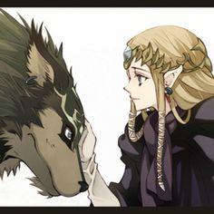 Artwork of Zelda and Link... SUP PEOPLE!!!!!