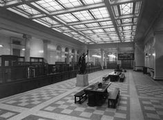 """"""": Photograph albums of post office interiors in POST 91 British Architecture, Interior Architecture, Hotel Concept, Beautiful Buildings, Post Office, Office Interiors, Stairways, My Dream Home, Future House"""