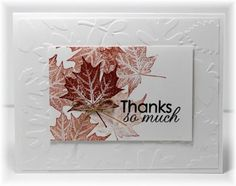 Scrappin' and Stampin' in GJ - Fall Thank You