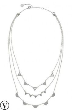 Strike a style balance between fine jewelry & a statement necklace with the Pave Chevron Necklace. Discover silver chains & layered necklaces at Stella & Dot.