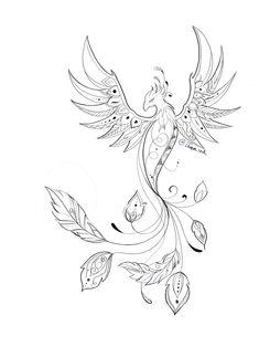 Alas Tattoo, Tattoo Femeninos, Deep Tattoo, Back Tattoo, Tattoo Drawings, Phoenix Tattoo Feminine, Small Phoenix Tattoos, Phoenix Tattoo Design, Simple Phoenix Tattoo