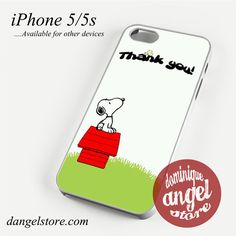 Snoopy Thank You Phone case for iPhone 4/4s/5/5c/5s/6/6 plus