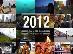 *2012 in 366 seconds, A Photographer Documents His Year in Daily One Second Increments - http://vimeo.com/56783189