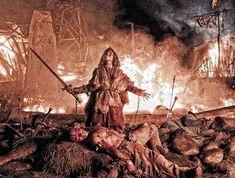 Leo Howard in una scena del film Conan The Barbarian 3D