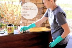 Removing stuborn smells from old furniture.  tips & tricks | Natty by Design