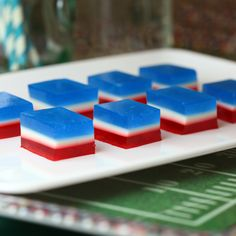 Patriots Jelly Shots for Super Bowl Sunday