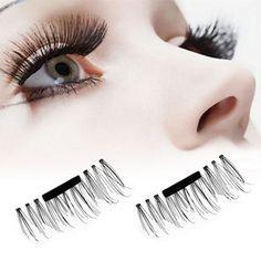 Super soft silk artificial magnet eyelashes woman makeup magnetic eyelash popular 3d lashes #Affiliate