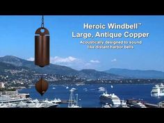 Hear the dreamy sound of distant harbor bells with the Heroic Windbell - Antique Copper, Large by Woodstock Chimes ($126.45)