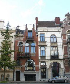 Bruxelles art nouveau (Belgique), Saint Gilles, avenue Brugmann: Les Hiboux (arch. Edouard Pelseneer, 1895)