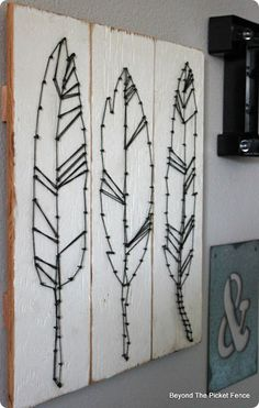 DIY Wall Art ~ DIY Feather String Art