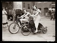 Biker Chicks, ca 1920s