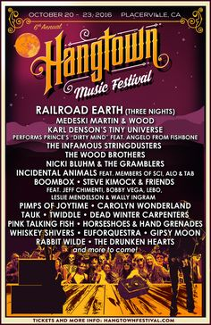 GoRockfest.Com: Hangtown Music Festival 2016 Lineup & Tickets Info...