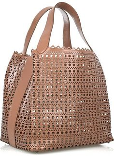 Alaia Perforated Leather Tote