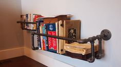 industrial pipe shelf by witusik2000 on Etsy, $179.00