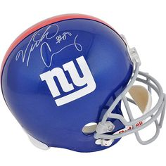 Autographed Victor Cruz helmet