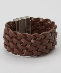 Take a look at this Treska Brown Leather Braided Bracelet on zulily today!