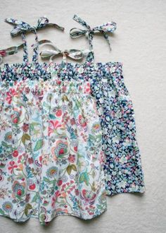 Kid's Gathered Summer Top | The Purl Bee.  Free tutorial.