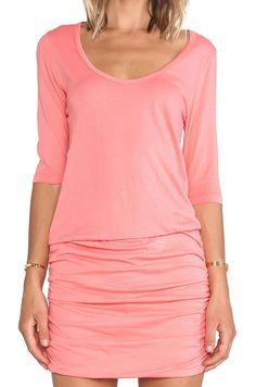 Bobi Supreme Jersey Long Sleeve Ruched Mini Dress - Polyvore