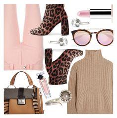 """Pink & Brown"" by stacey-lynne on Polyvore featuring Totême, Prada, Balenciaga, Sephora Collection, Miu Miu, Aaron Jah Stone, STELLA McCARTNEY and Lancôme"