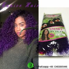 Brazilian Curly Hair 1b/purple 6pieces one pack jerry curl hair extensions