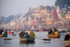 morning on the river ganges
