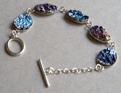 Bismuth Crystal Bracelet Beautiful by bismuthcrystalarts on Etsy, $24.99