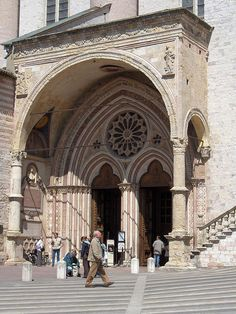 Basilica of San Francesco d'Assisi - Side entrance to the lower basilica.