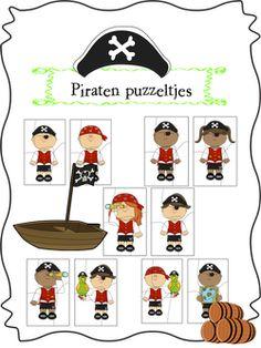 Een werkboekje voor de kleine piraten. In dit werkboekje bedenken we een eigen piratennaam, ontwerpen we onze eigen vlag, maken we dubbelwoorden, gaan we rekenen en nog veel meer.