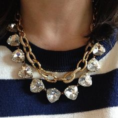 Today I'm layering the Christina Link Necklace with the Somervell in Gold. It's today's #stelladotstyle:-)