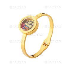 pulsera dorado moda con cristal color surtido en acero inoxidable para mujer -SSBTG164561