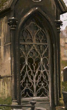 ArtStation - Montmartre Cemetery Grave Study, jason scheier