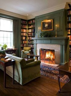 My living room wall with a cozy fireplace, books and a comfortable couch … – cozy home comfy Living Room Designs, Living Spaces, Cozy Fireplace, Fireplace Ideas, Library Fireplace, Cottage Fireplace, Fireplace Bookshelves, Corner Fireplaces, Fireplace Modern