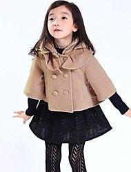 meisje mode-Koreaanse stijl cape mouw tweed jas – EUR € 28.31