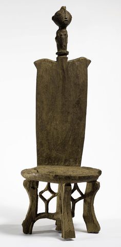 Africa | 'Throne' from the Kaguru people of Tanzania | Wood; aged varied brown patina