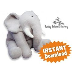 Ellie Elephant INSTANT DOWNLOAD Sewing Pattern PDF