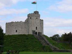 Castelo de Cardiff, País de Gales, Reino Unido.