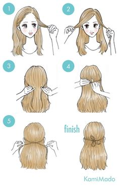 Tutorial de penteado simples com laço feito com mechas de cabelo.