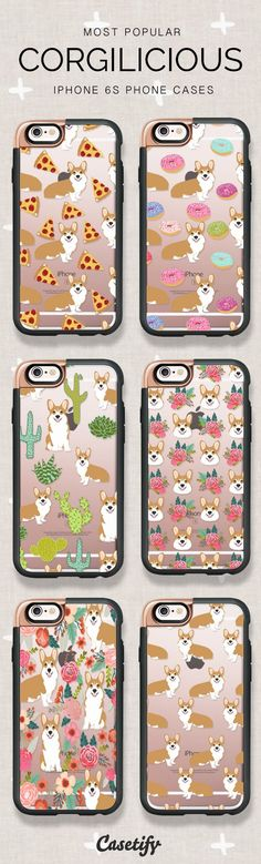 Corgi Phonecases for All Corgi Lovers. Shop these best selling iPhone 6S / iPhone 7 cases here >> https://www.casetify.com/artworks/b5qfOh4XWx