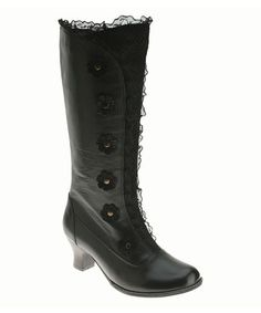Take a look at this Black Leather Heavenly Boot by Spring Step on #zulily today! ONLY $94.99!! Over %50 off! I'm in LOVE!
