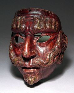 Spanish mask from Guatemala- 19th century.