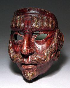 Spanish mask from Guatemala- 19th century.