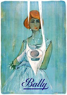 Bally Shoes Vintage Posters & Prints. Code: FAS190.  www.vintagevenus.com.au