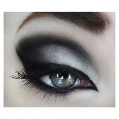 Goth makeup tutorial ❤ liked on Polyvore featuring beauty products, makeup and eyes