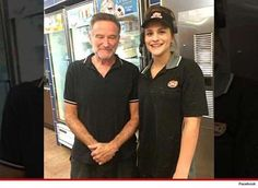 This is the final known image of actor Robin Williams posing with a fan. A few days late the tragic funny man was found dead having hanged himself with a belt. It was later discovered that he was suffering from severe anxiety and depression following his diagnosis of Parkinson Disease. Comedy genius Williams enjoyed a successful career spanning 5 decades earning himself countless awards for his movie roles.