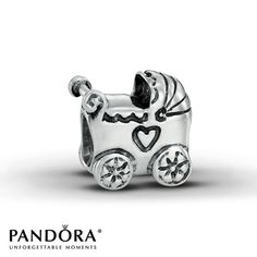 Pandora Baby Carriage Charm... Plan to give this to the mothers when we find out! How cute!